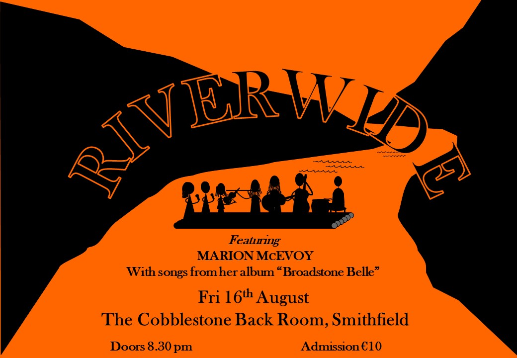 Riverwide poster - Cobblestone Aug 19 Orange